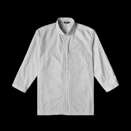 Striped 3/4 Sleeve Shirts - White