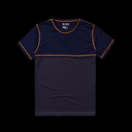 Contrast Sport Tee - Navy Grey