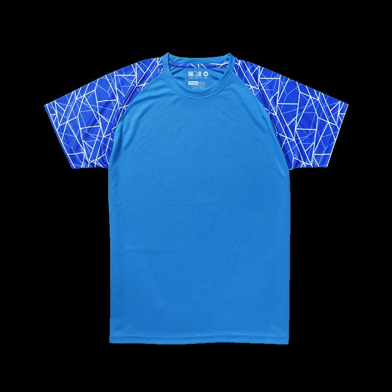 Sublimation Line Raglan Sleeve Sport Tees - Turqoise/Blue
