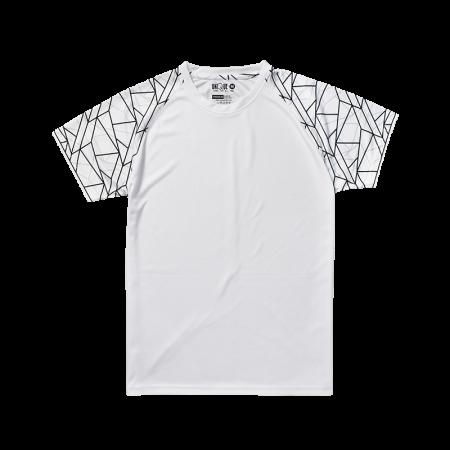 Sublimation Line Raglan Sleeve Sport Tees - White