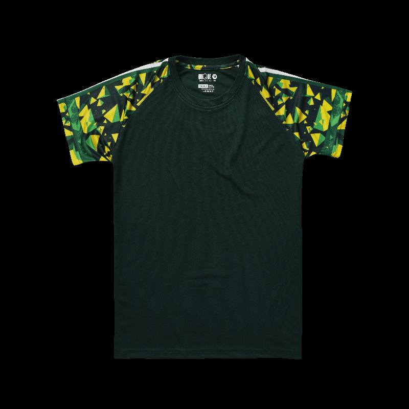 Sublimation Pyramid Raglan Sleeve Sport Tees - Dark Green