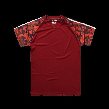 Sublimation Pyramid Raglan Sleeve Sport Tees - Maroon
