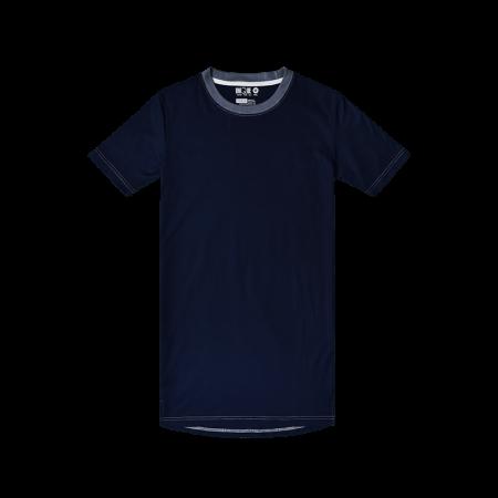 Contrast-T-shirt Dress -Navy