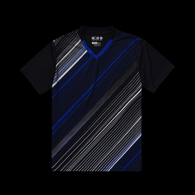 V-neck sport tee- Blue