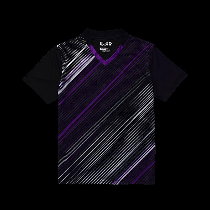 V-neck sport tee- Purple