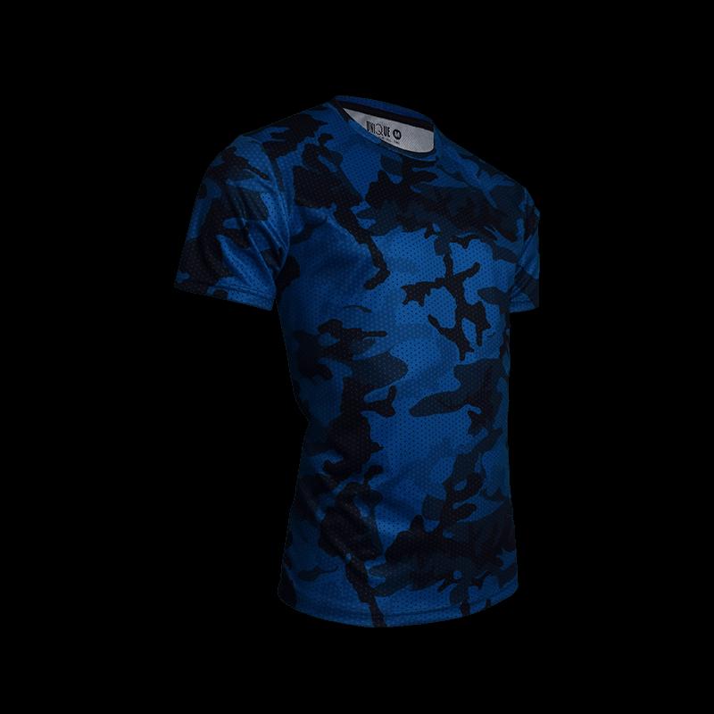 Camo Sport Tees- Blue