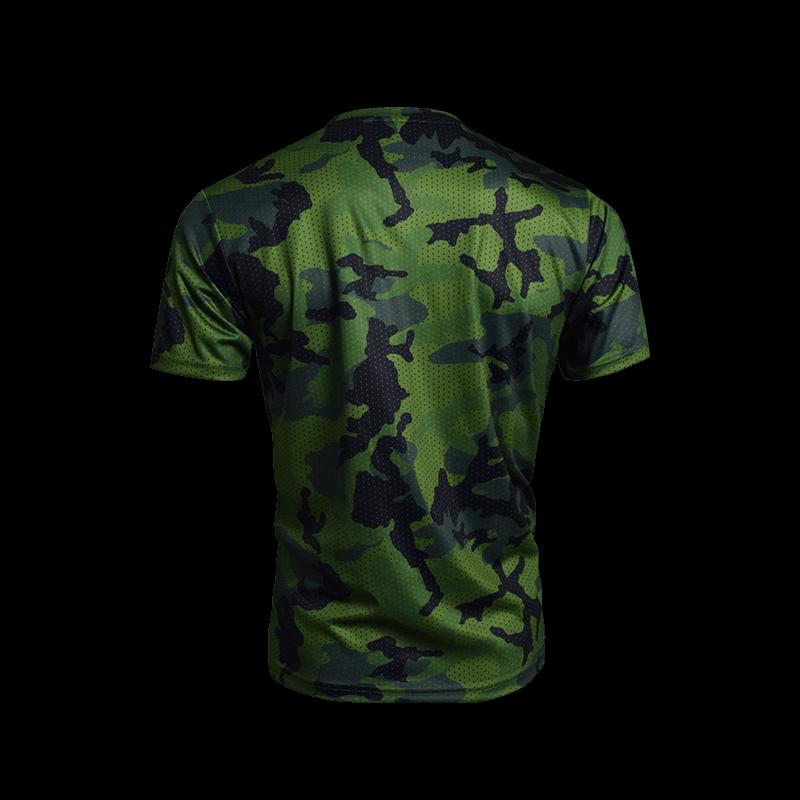 Camo Sport Tees-Green