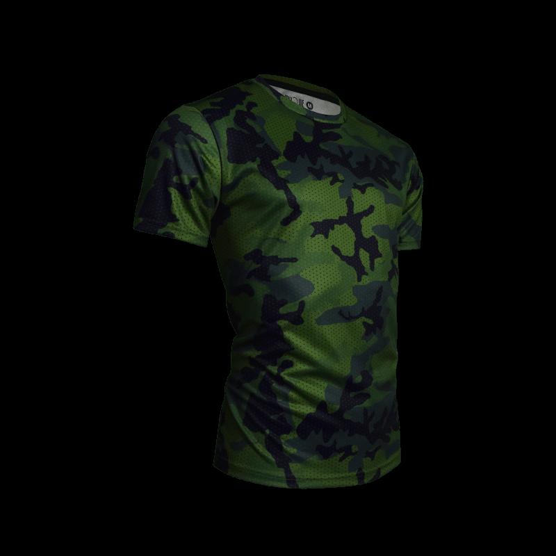 Camo Sport Tees- Green