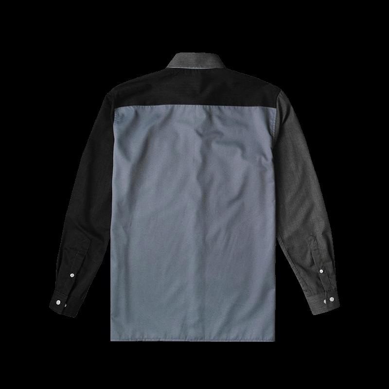 Color Block Shirts - Grey Back