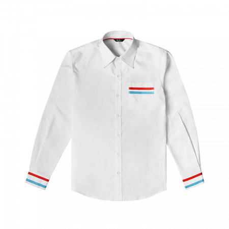 Contrast Tape Shirts - White Front