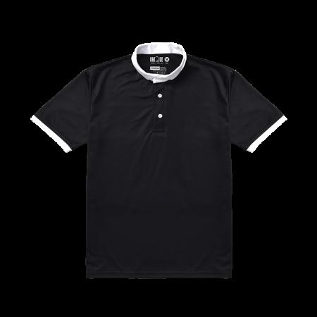Premium Contrast Collar Polo Tshirts Black