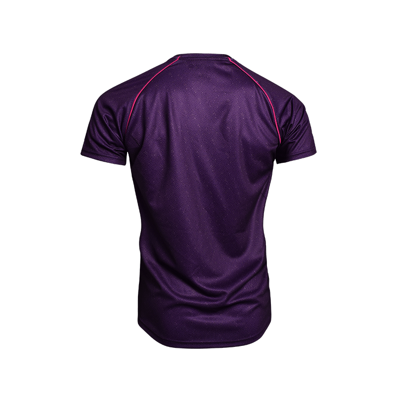 Contrast Piping Sport Tees (Set) - Purple Back